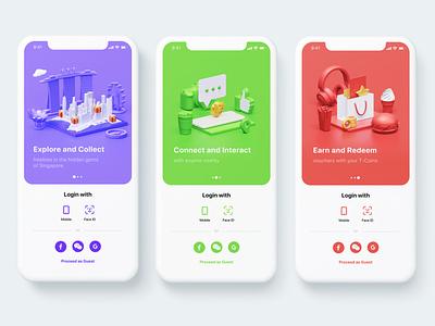 Onboarding 3D illustrations render blender design ui apple iphone 3d illustration illustrations onboarding