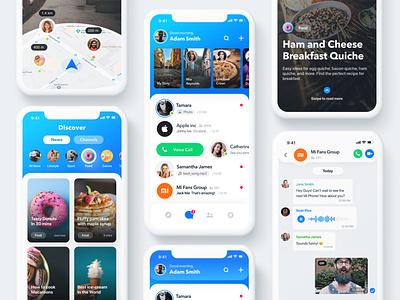 Rainbow Messenger rainbow ui deisgn ux ui social app messenger app messenger iphone design