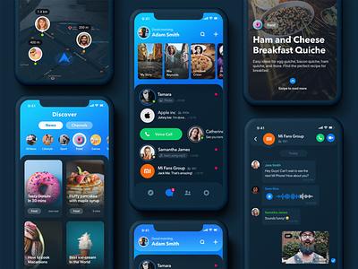 Rainbow Messenger - Dark Theme dark app ui dark ui dark theme dark mode darkmode messenger app messenger iphone design