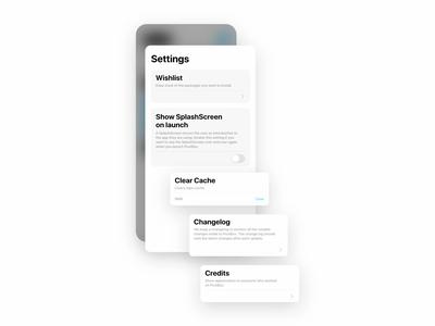 PostBox - Settings ios design ui flat adobe xd
