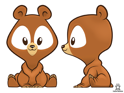 Boom Boom Bash design character sweet cute animal cub bear