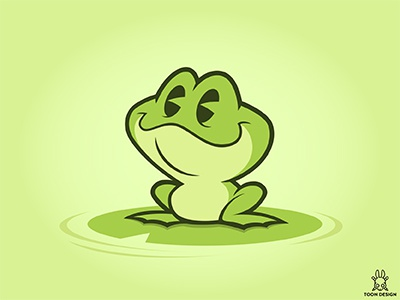 Frog joachim berg cute baby green character cartoon pond anima frog