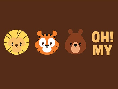 Lions & Tigers & Bears - Oh My! toon design toondesign joachim berg wizard of oz dorothy animal bears tigers lions