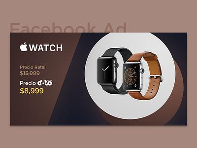 Facebook Ad - Elegant Apple Watch Series 1 post apple watch gradient modern ysbdesign facebook elegant ad