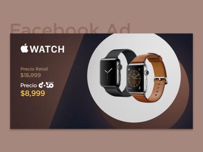 Facebook Ad - Elegant Apple Watch Series 1