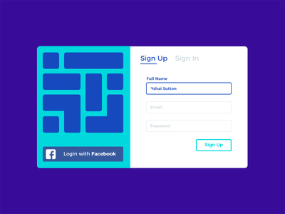 Daily UI #001 - Sign Up Modal dailyui colors input ysbdesign modal form login in up sign user interface ui