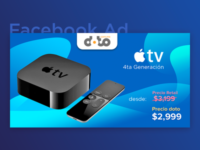 Facebook Ad - Apple TV deal campaign price gradient post fb facebook ad tv apple