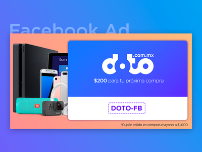 Facebook Ad - Online Tech Store Coupon ps4 iphone gradients ysbdesign store online tech post ad fb facebook coupon