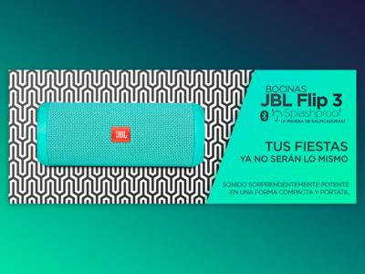 Web Banner for Online Store - JBL Flip 3 Speakers