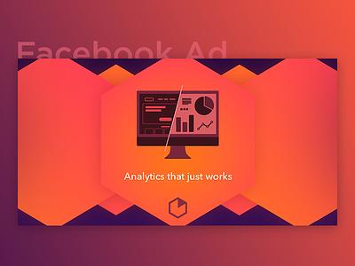 Facebook Ad - Web & Mobile Analytics (Heap) post ux interactions user icon mobile web analytics heap analytics fb facebook ad
