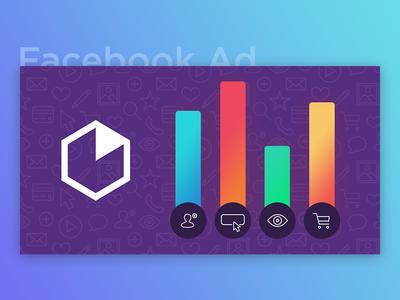Facebook Ad - Web & Mobile Analytics Graph