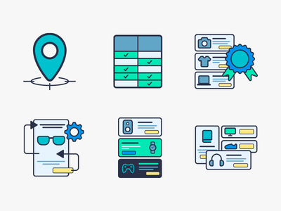 My First Adventure in Icon Design! filled line bestsellers comparison table map pin line flat design icons amazon products icon