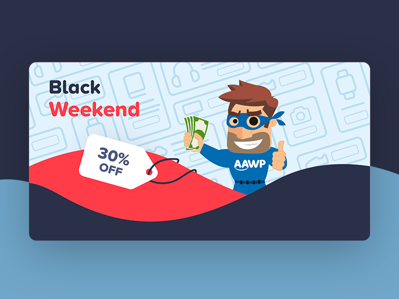 Black Friday - Social Media Ad for AAWP instagram post instagram waves aawp discount friday black coupon ads fb facebook ad