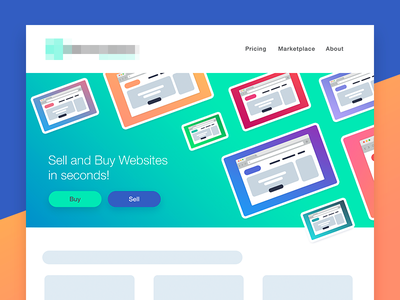 Web Header for Startup startup cool gradient menu head seller website header web