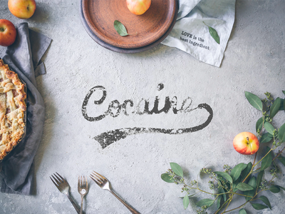 Cocaine - Adobe Live Contest Entry contest live adobe food lettering kitchen dust drug cocaine
