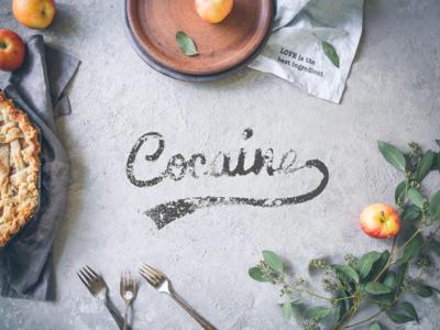 Cocaine - Adobe Live Contest Entry contest live adobe food lettering kitchen dust drug cocaine