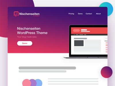 Website Header - Nischenseiten Theme website web colors gradient head header homepage landing site niche wordpress