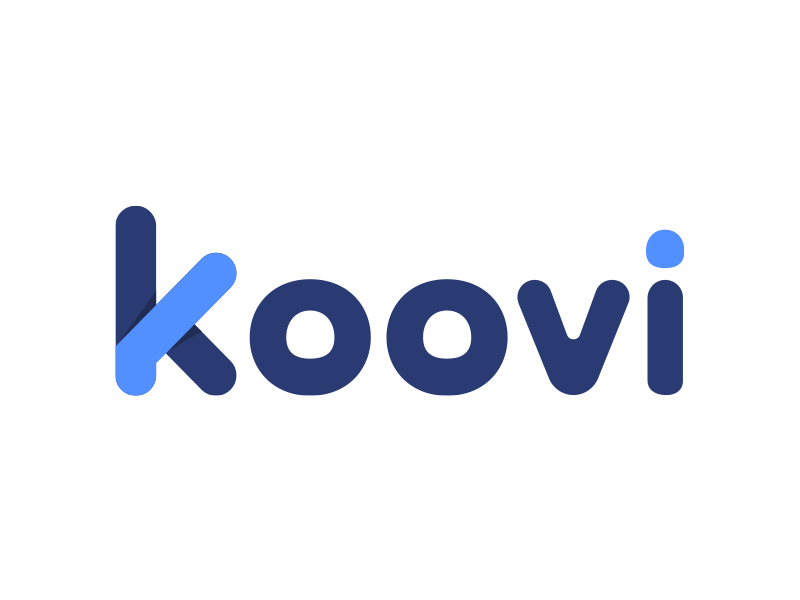 Logo Koovi logo brand branding stationary flat blue cool beautiful design friendly