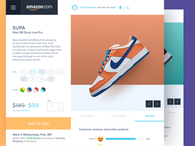 Reimagining Amazons' Product Page redesign amazon website product page rating web app daily ui ui