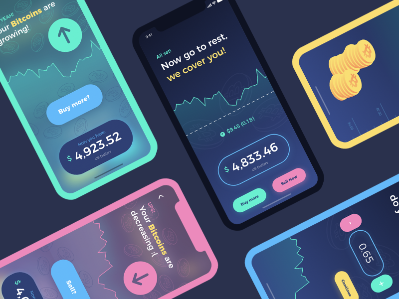 My entry for the #AdobeXDUIKit Contest currency iphone x adobe xd contest crypto colors bitcoin app ui