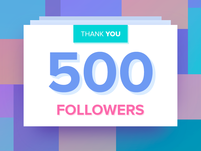 We're 500+ Now! thanks follow colors gradient beautiful thank you 500 followers