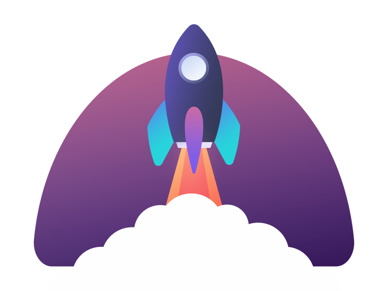 To the infinite and beyond - Cool Rocket ;) rocket illustration boost space gradients colors beautiful cool graphic icon