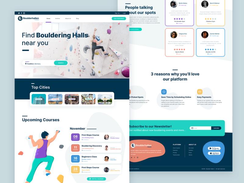 Full Website Project - Bouldering Halls Finder