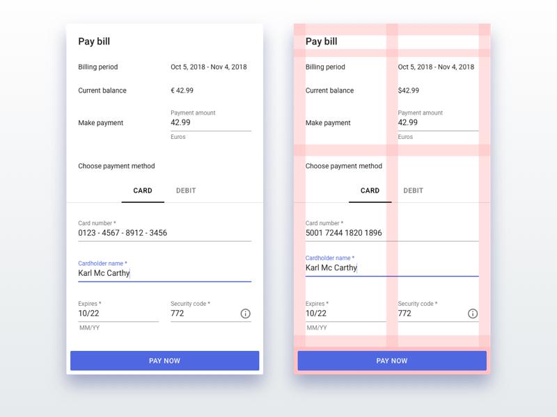 Payment Dialog credit card ux sketch material design payment ui