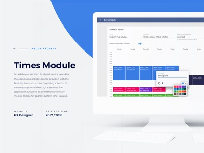 Times Module - Introduction schedule ui ux sketch material design application software