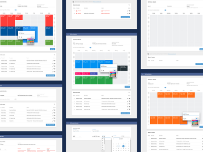 Times Module - Scheduling application using Material Design sketchapp software application sketch schedule ux ui telecoms material design web app product design