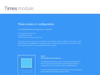 Times module modes full 2x