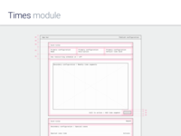Times Module - Interface layout
