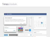 Times module material design system full 2x