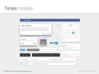 Times Module - Design System