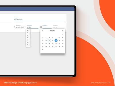 Times Module - Special Case google userinterface specification application material design minimal mock up product design schedule sketch sketchapp software telecoms ui ux web app design system