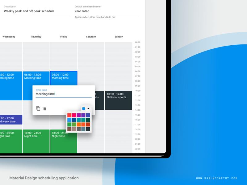 Times module - Design details web app ux userinterface ui telecoms specification software sketchapp sketch schedule product design mock up minimal material design google design system application