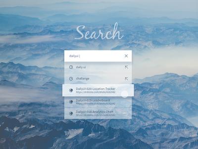DailyUI #022 - Search