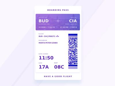 DailyUI #024 - Boarding Pass
