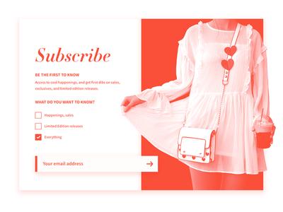 DailyUI #026 - Subscribe