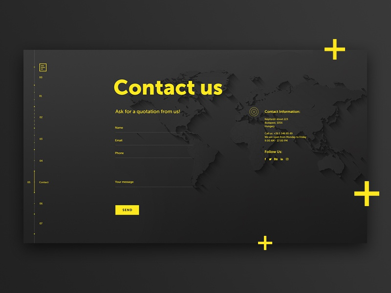 DailyUI #028 - Contact Us uxdesign uidesign us contact 028 challange dailyui