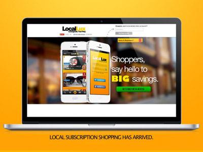 LocalLux Web web desktop ios design ui visual design