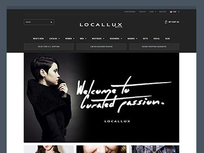 LocalLux Frontpage marketplace locallux