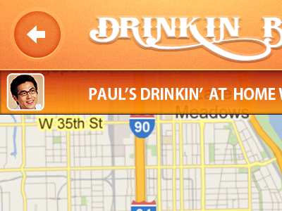 Drinkin' Budz App Concept drinking buds iphone screenshot