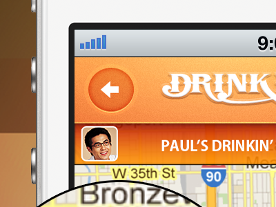 Drinkin' Budz App on iPhone Mockup drinking buds iphone screenshot mockup
