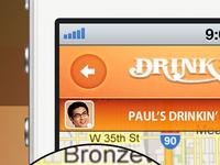 Drinkin' Budz App on iPhone Mockup