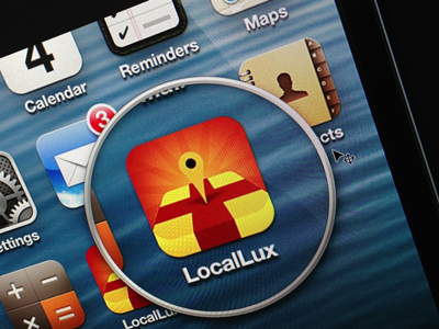 LocalLux Final Render v. 1 iphone icon ios app apple local luxury shopping