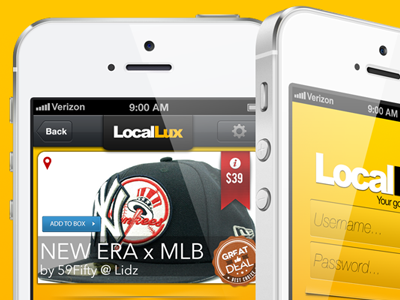 LocalLux ios retail app iphone5 local shopping beta
