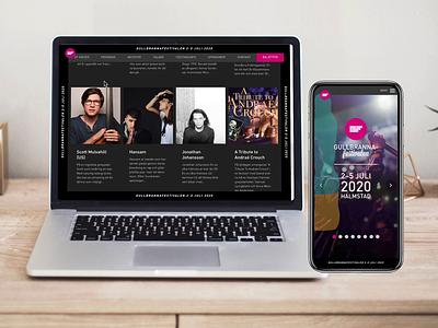 Gullbrannafestivalen 2020 blobs festival music website website design