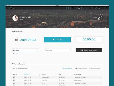 Madjob ui time tracker website proximanova projects app