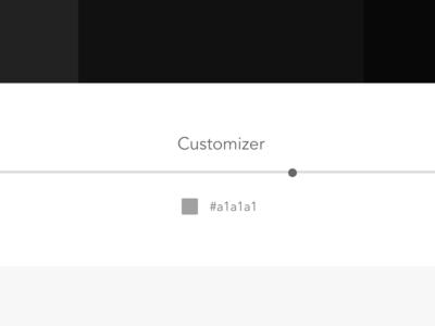 Customizer slider range customizer hex color grey